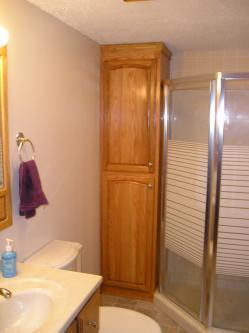 Oak Linen Cabinet