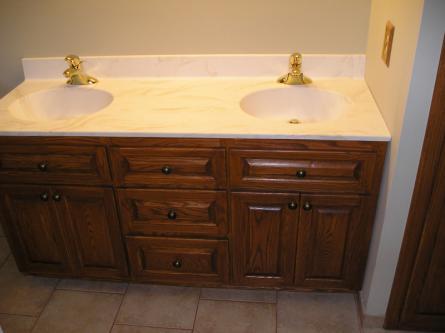 Oak Double Sink Vanity