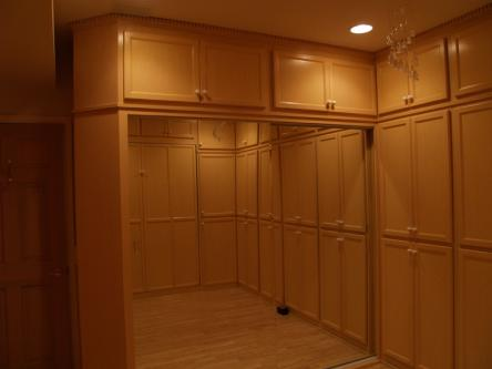 Birch Cabinets around Murphy Bed