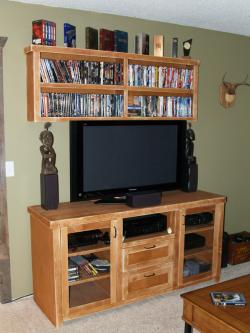 Maple TV Stand and DVD Shelf