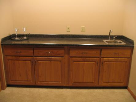 Oak Wet bar