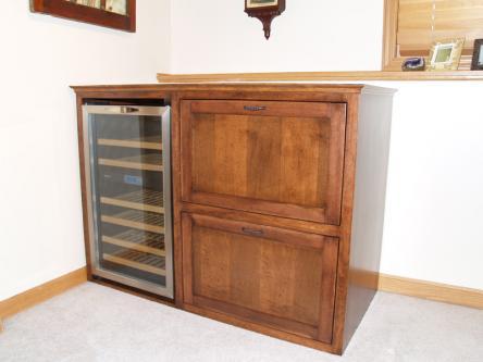 Maple Bar Cabinet w/Built-in Wine Fridge