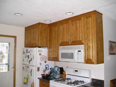 Oak Kitchen Pullout over Fridge