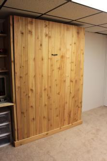 Cedar Full Sized Murphy Bed Closed