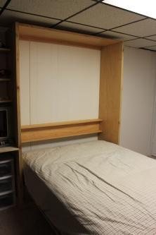 Cedar Full Sized Murphy Bed Open