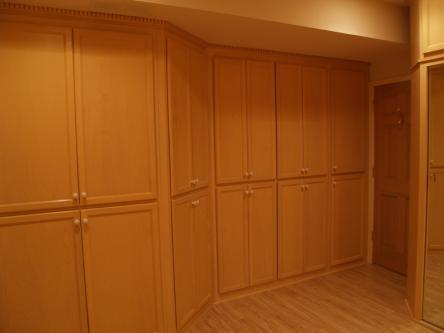 Birch Cabinets around Murphy Bed