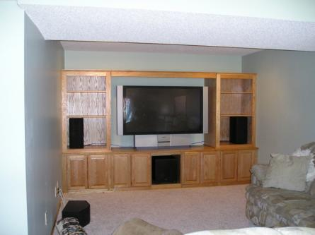 Oak Entertainment Center