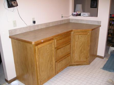 Oak Kitchen Cabinets with lazy susan