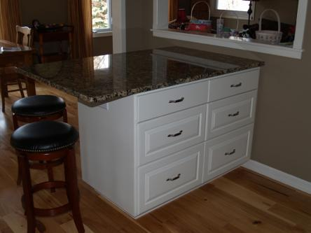 White Island with Large Drawers